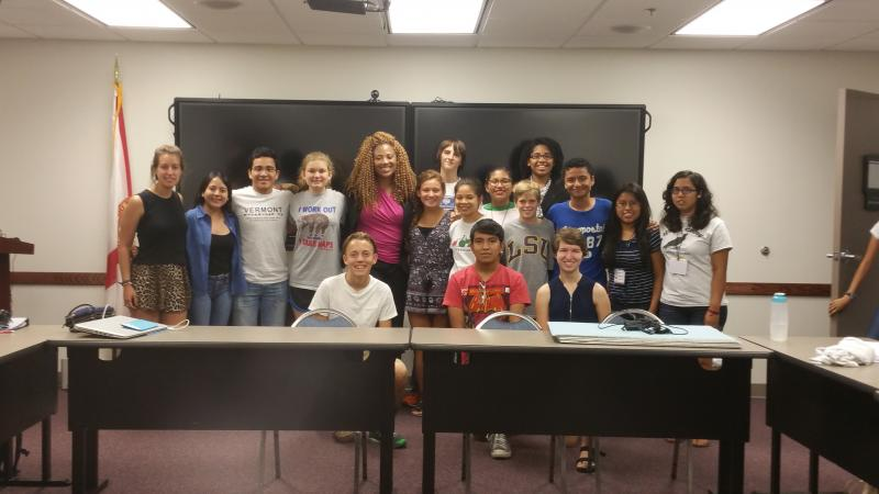 Dr. Eurydice training international students visiting Pensacola, Florida